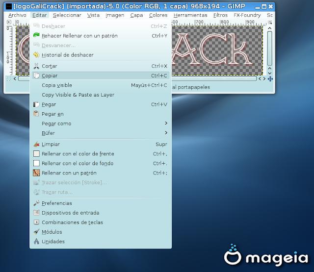 Crear/Editar Logo con GiMP FX-Foundry Linux32