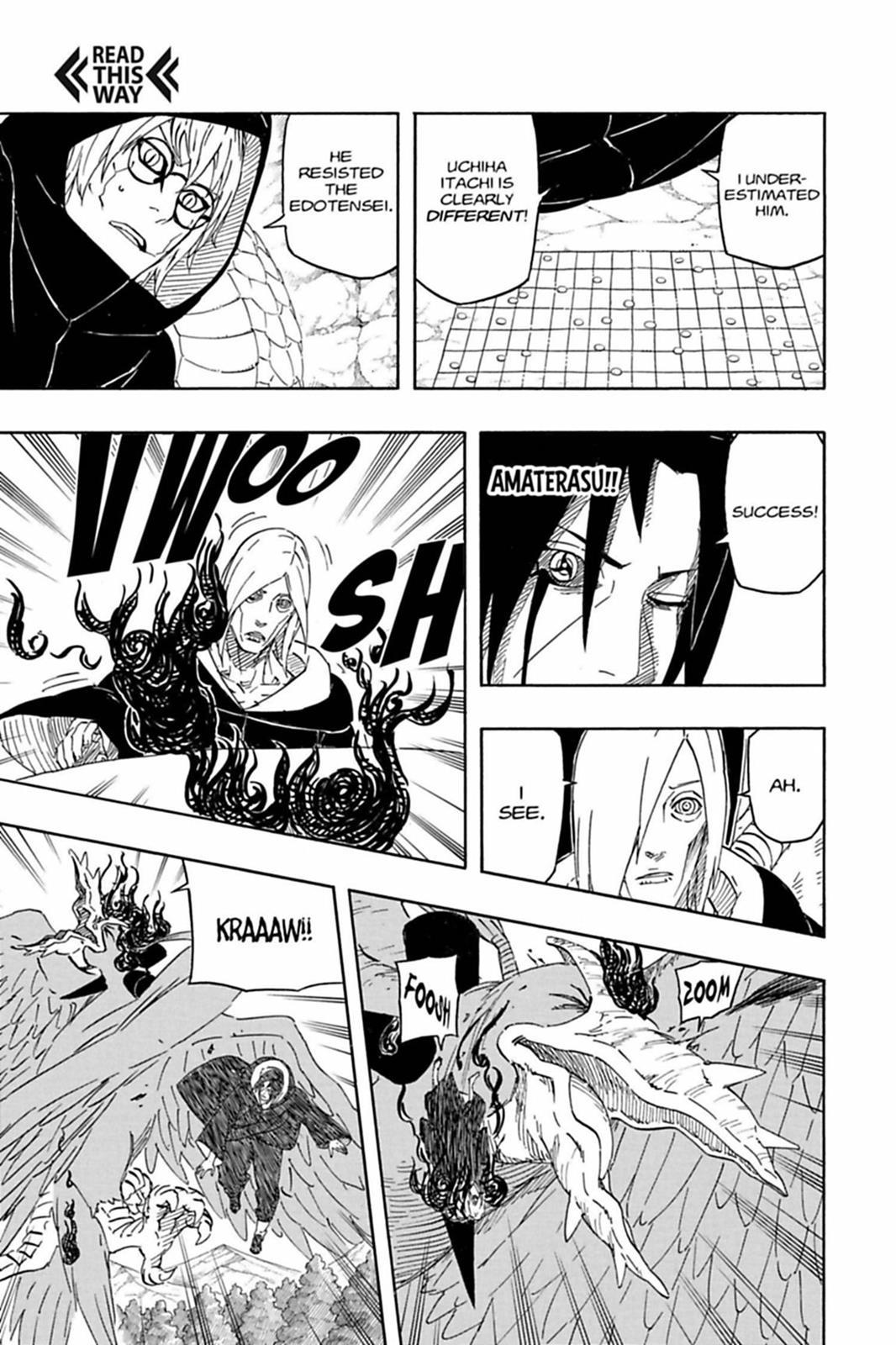 Segundo Kabuto, Itachi está acima de Nagato, Bee e Naruto KM. 0550-007