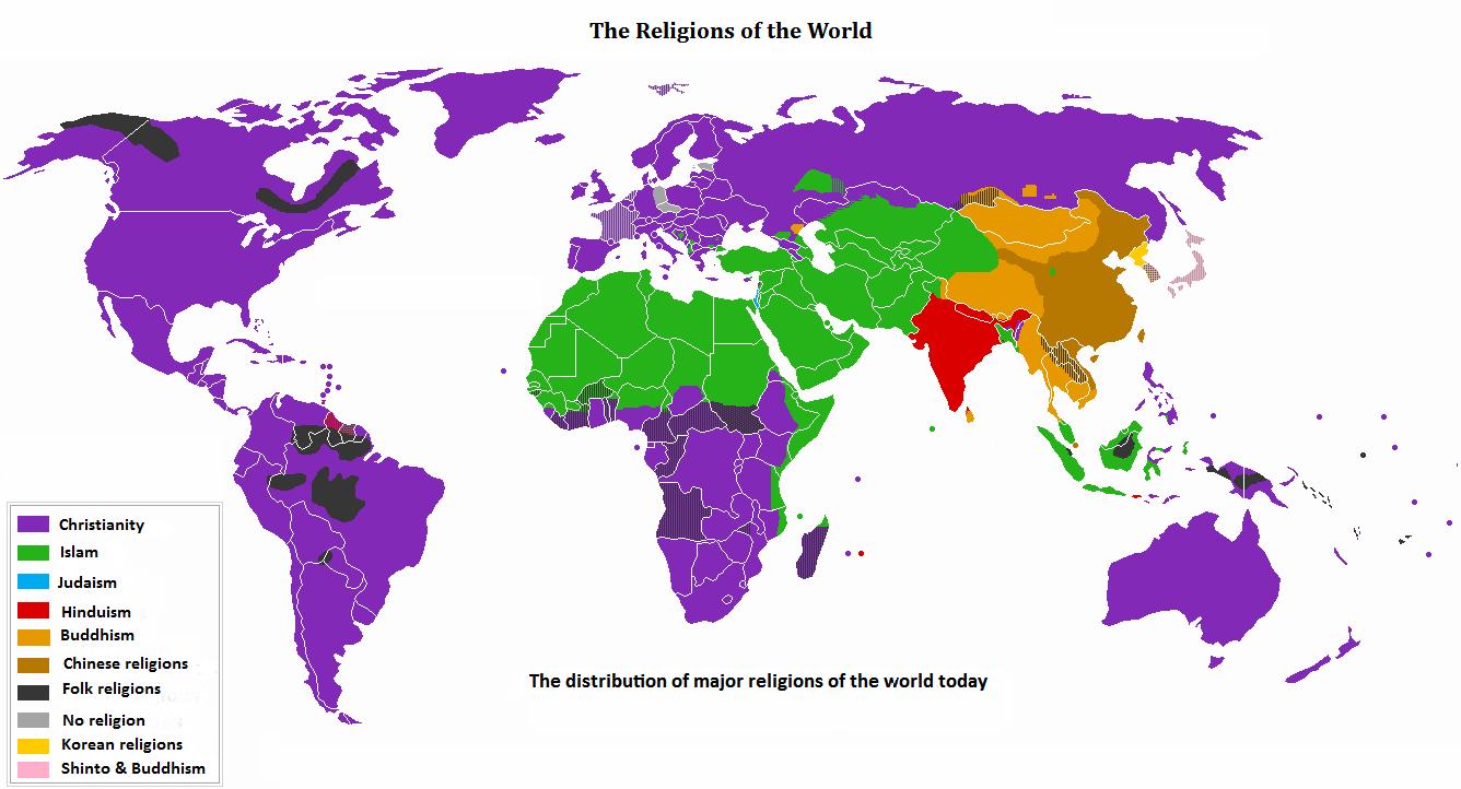 Mapa das Religiões Religion_distribution