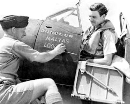 Malta 1940-43, Spitfire Mk.Vb, 249 Sqn RAF, Tamiya 1/48 Lynchy