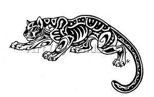 Galerie de Draco  Aztec_Jaguar_Tattoo_Commission_by_WildSpiritWolf