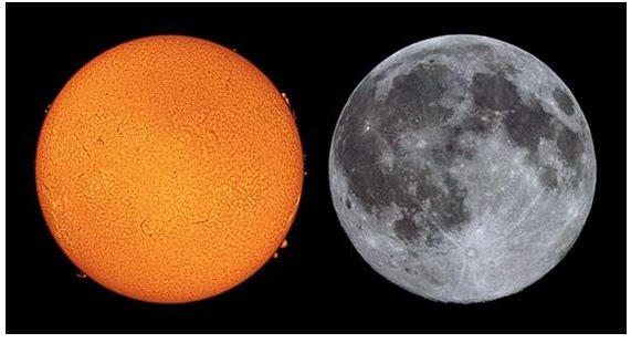 The Globe Earth Lie Sun-and-moon-Same-Size-in-Sky