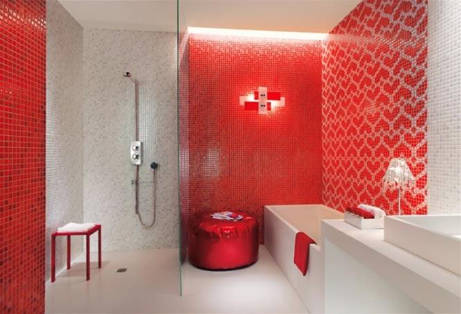 حمامات مجموعة تصميمات جذابة جداً  Red-white-heart-mosaic-tiles-bathroom-665x453