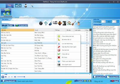 GetMusic phần mềm nghe nhạc và xem video trực tuyến từ Zing, NhacCuaTui, YouTube...! GmHotSong