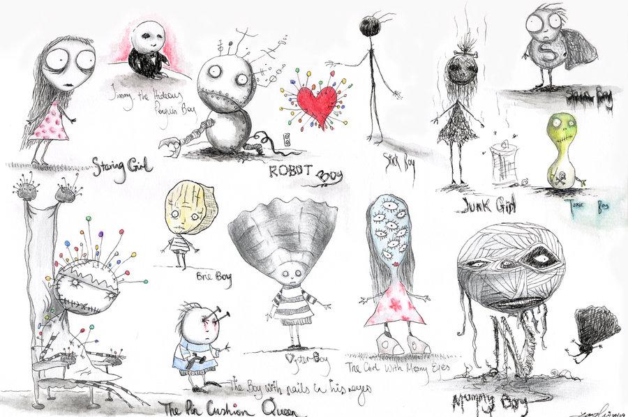 Escritores que ilustraron sus propias obras Tim_burton__s_oyster_boy_by_simplyrain