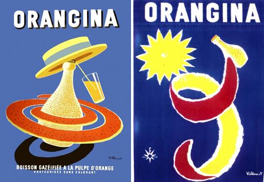 Les couleurs de Martin trouvées par Blucat et Martine Orangina-posters-bernard-villemot-2