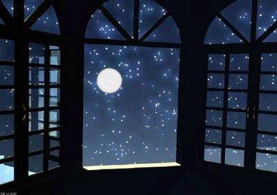 POEMAS SIDERALES ( Sol, Luna, Estrellas, Tierra, Naturaleza, Galaxias...) - Página 26 Luna-en-la-ventana