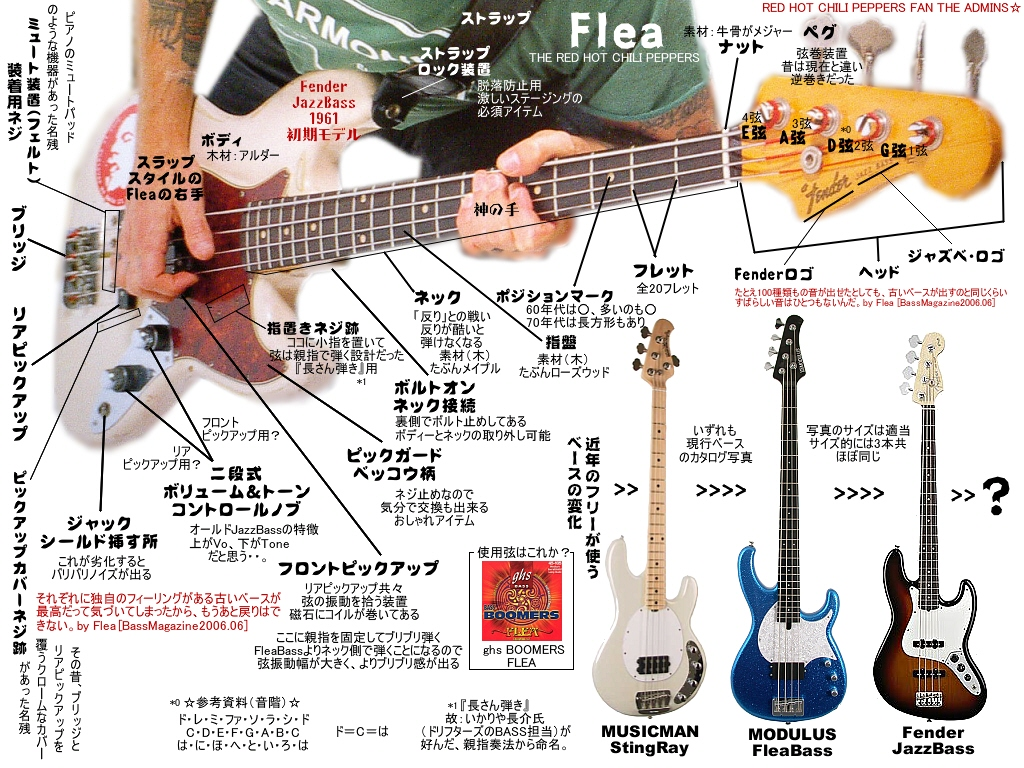 Lane Poor Flea_bass_zukai