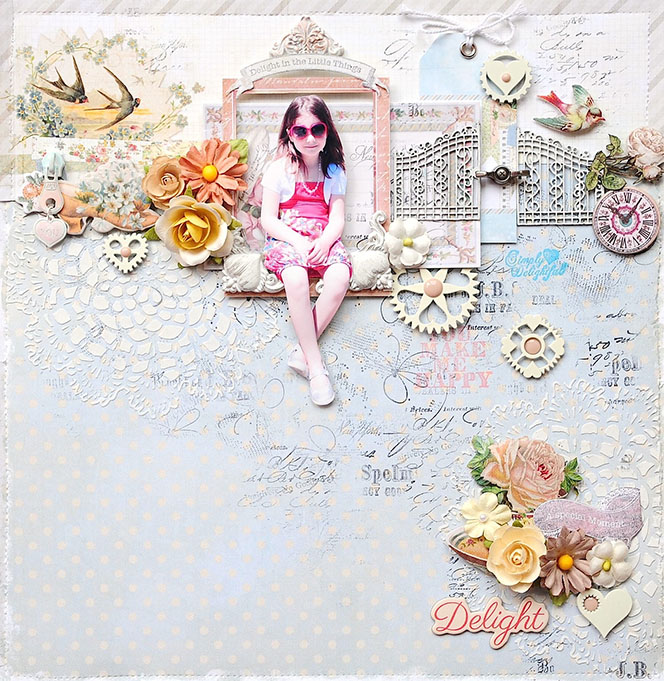 26 juli 2013 Sweet Shabby Chic layout by Gerry van Gent Delight_gerry