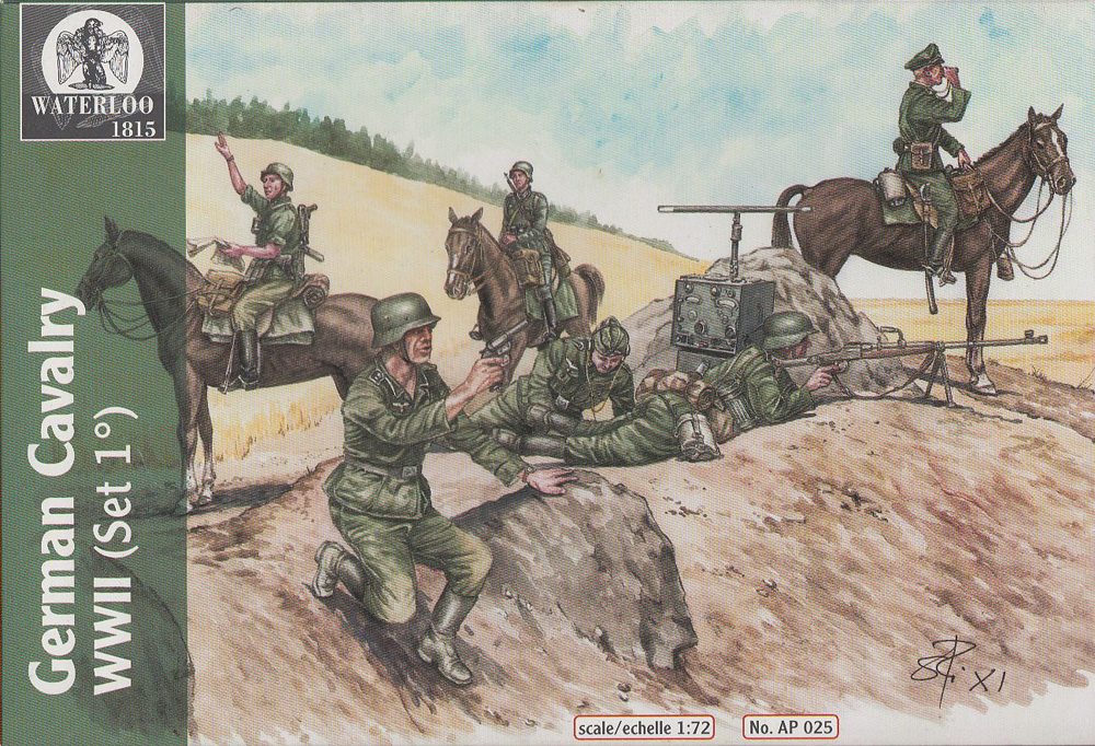 German Cavalry Set von Waterloo 1815. Waterloo-Deut.Kavallerie