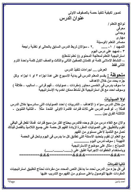 بالصور: الطريقة الصحيحة لتنفيذ حصة اللغة العربية والقرائية لصفوف المرحلة الابتدائية  1