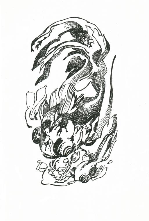 [tuto] Encrage et hachures... Poisson002