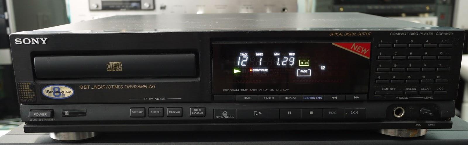 Leitor de CD. Problemas na leitura dos CD's Sony%2BCDP-M79%2B2