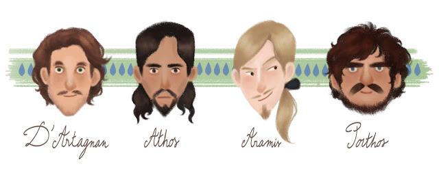 Les Mousquetaires : votez pour votre préféré ! Portraits_mousquetaires