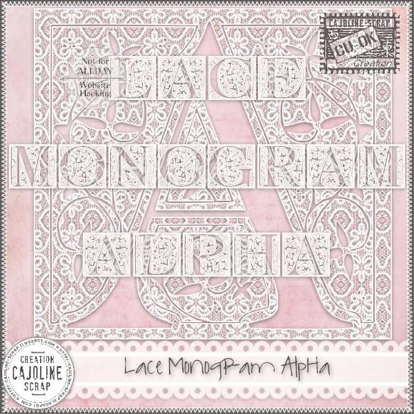 LACE MONOGRAM ALPHA CU Cajoline_lacemonogramalpha_cu