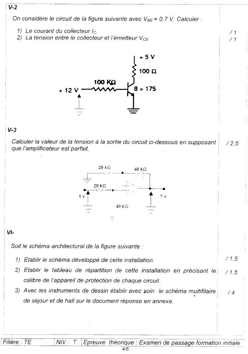 Examen de passage Théorique TEMI 2006 4