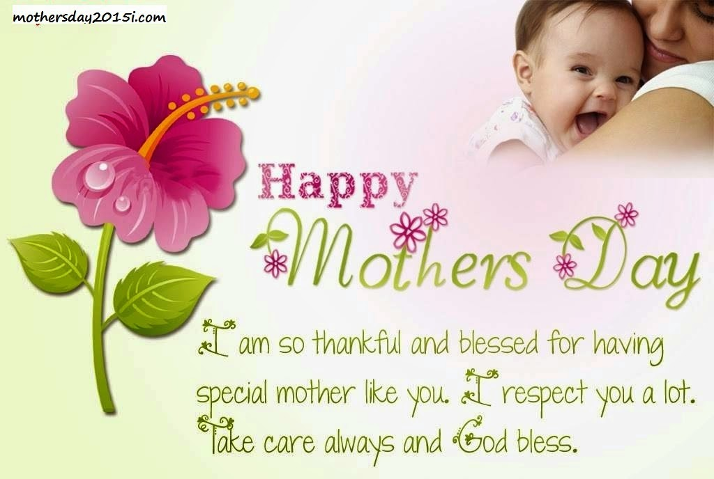 MAJČIN DAN - mother's Day,Muttertag Mothers-Day-Thanks-Wishes-Message-SMS-and-eCard-Image-with-Flower-free-2015