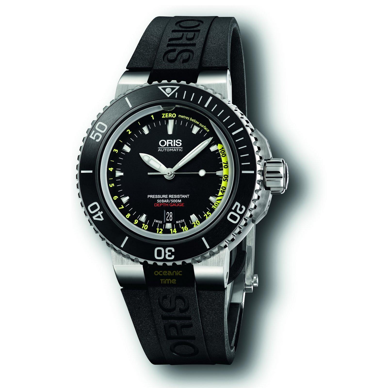 profondimetre - Une nouvelle montre profondimètre chez Oris ORIS%2BAquis%2BDepth%2BGAUGE%2B01