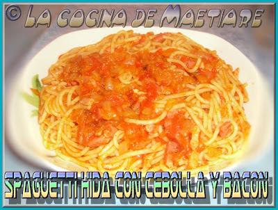 Spaguetti Hida con cebolla y bacón CIMG1536