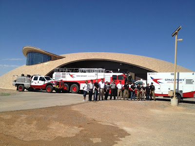 Spaceport America Readies to Welcome Space Tourists  Spaceport-america-fire-trucks