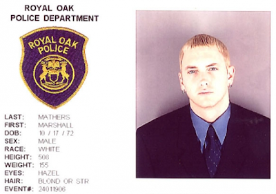¿Cuánto mide Eminem? - Altura - Real height Eminem-mugshot-royal-oak