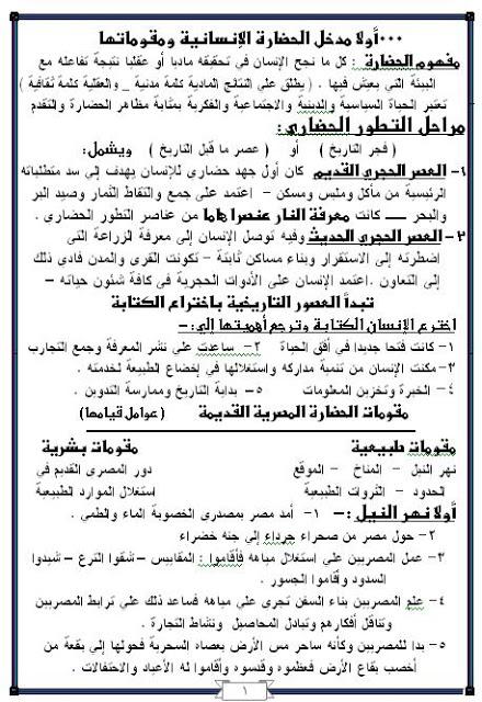 امتحانات وملخصات الثانوى العام مميزه جدا من مصراوى22 23