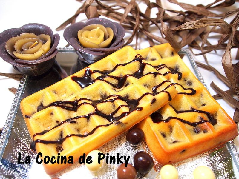 GOFRES AL HORNO CON CHIPS DE CHOCOLATE  Gofres%2Bal%2Bhorno%2Bcon%2Bchips%2Bde%2Bchocolate%2B1