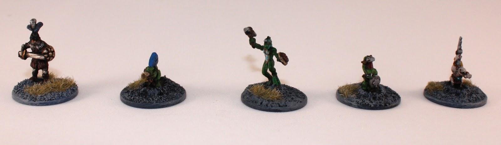 my 15mm Lizardmen Warband start - Heroes IMG_3136