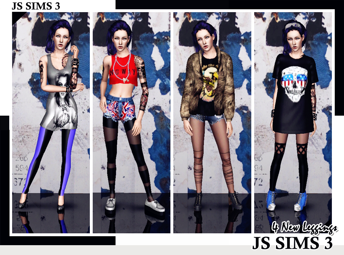4 New Leggings by JS Sims 0