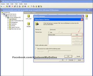 Como Restaurar uma Database no SQL Server 2000 Part5