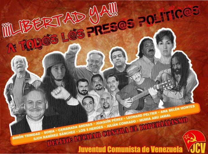 Solidaridad venezolana con el Camarada Arenas JCV