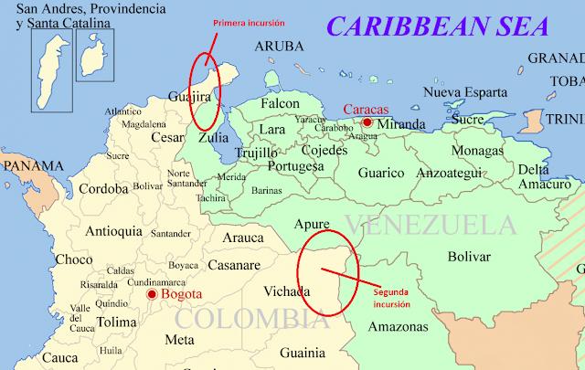 Colombia - Venezuela y Colombia se enredan en un conflicto marítimo Colombia_venezuela_map%25282%2529
