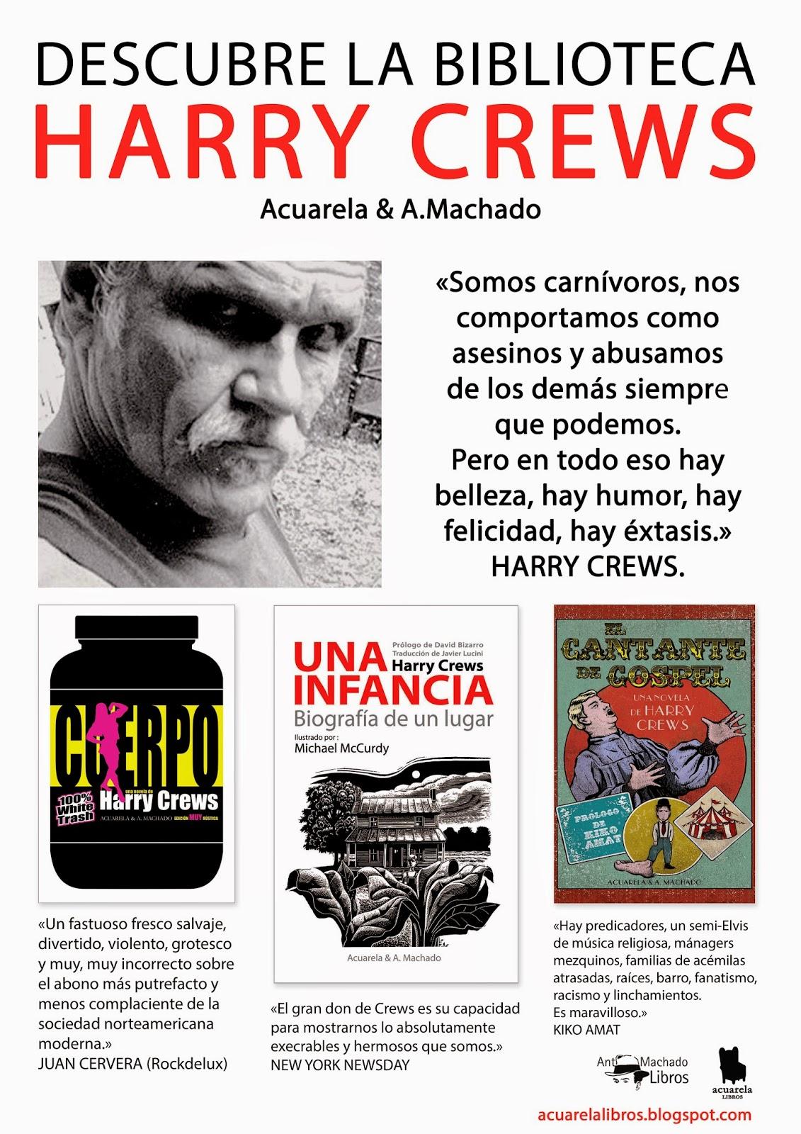 Literatura de cloaca, novelistas malditos (Bunker, Crews, Pollock...) Cartel_crews