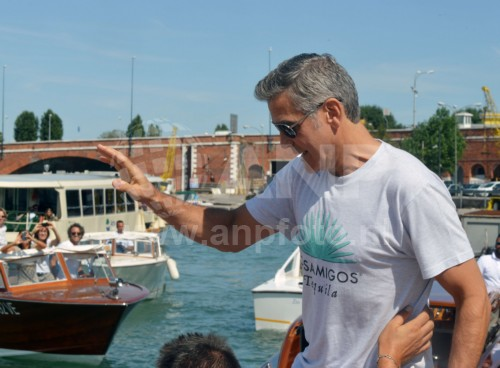 George Clooney arrives in Venice 24414905