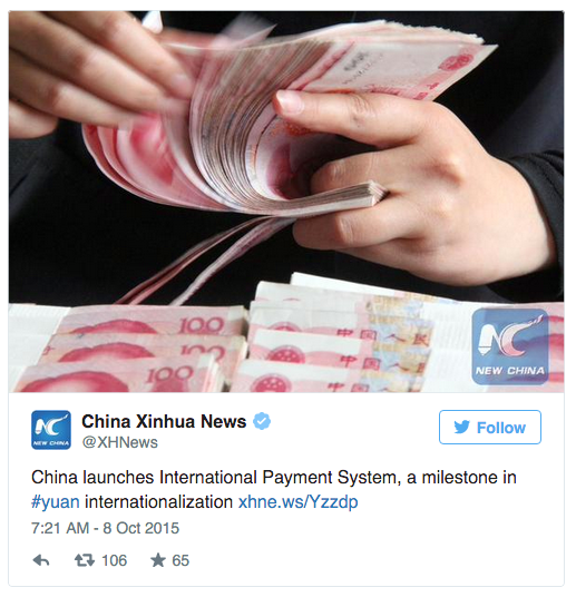China launches global yuan payment system China-1