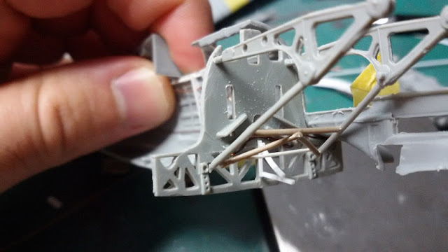 Macchi C.205 - 1:48 Tauro Model Structuraldetail