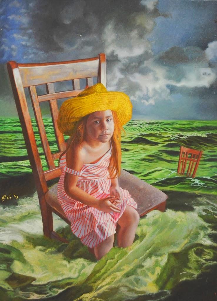 Bienvenidos al nuevo foro de apoyo a Noe #298 / 24.11.15 ~ 02.12.15 - Página 6 Ni%C3%B1a-en-el-mar-surrealismo-pintura