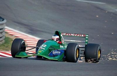 MICHAEL SCHUMACHER - LA SUPER ESTRELLA DE LA F1 Michael-Schumacher-Spa-1991-Jordan-400x260