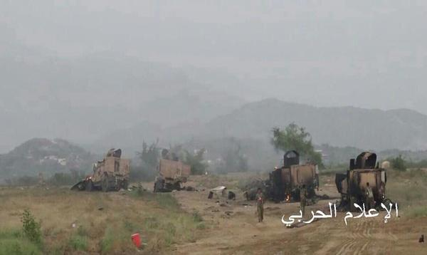 Yemeni Conflict: News - Page 21 Saudi%2Bvehicles%2Bdestroyed%2Bby%2BYemeni%2BArmy%2Bin%2BJizan%2B1