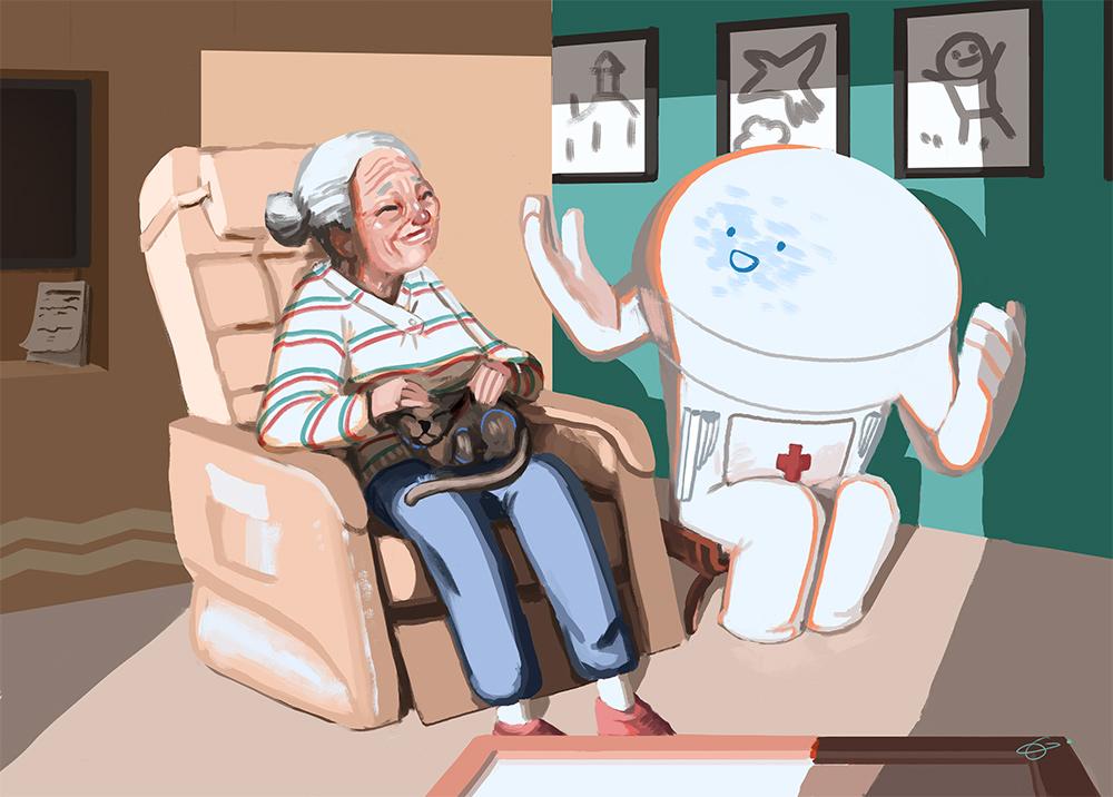 IM Challenge #8 : Relation entre humain et robot Robot-mamie-1