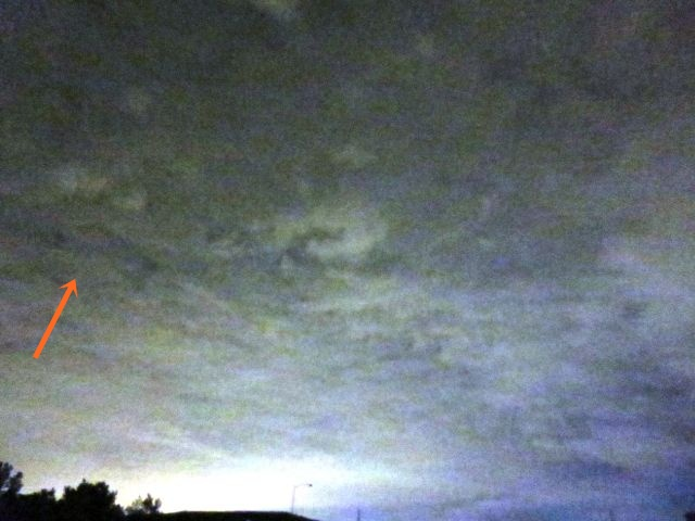 Delta Shaped UFO hovering in the clouds over Morrisville, Pennsylvania  Delta%2BShaped%2BUFO