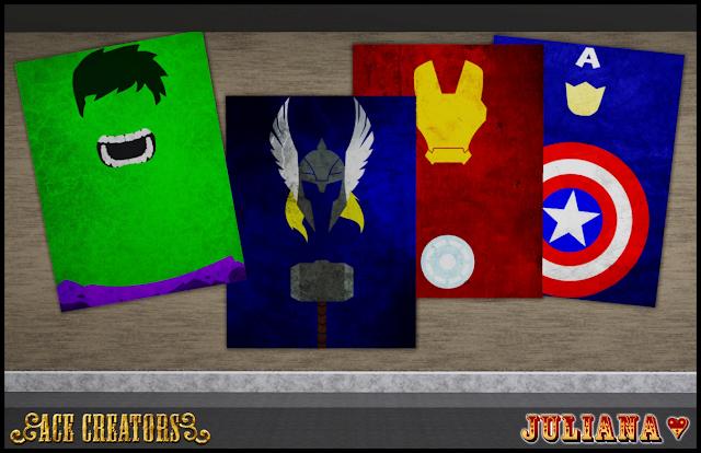 Minimalist Superhero Posters by Juliana Screenshot-33