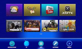 iptv - PRIMEIRAS IMAGENS FREESKY THE ROCK ZION HD IPTV 4 TURNERS TR%2BZION%2BMENU