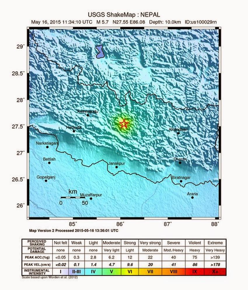 PLANETARY TREMORS: Fresh Tremors In Disaster-Ravaged Nepal - Strong 5.7 Magnitude Earthquake Hits Kathmandu! Nepal_quake02