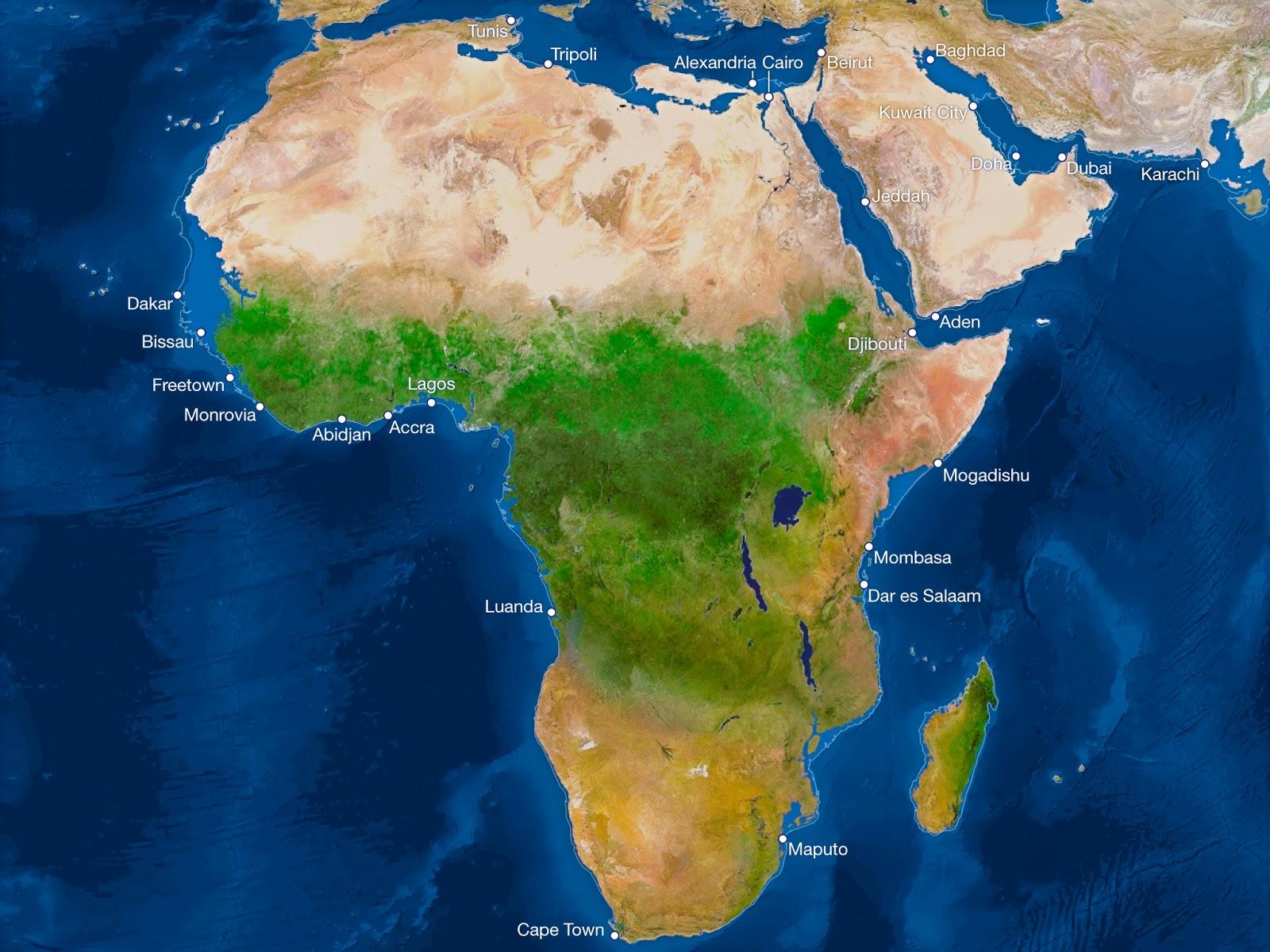 ¿Cómo sería la Tierra si todo el hielo se derritiera? Africa-sin-hielo