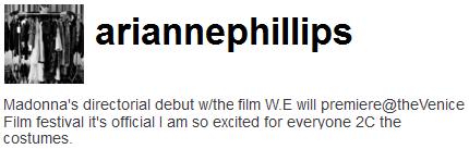 Película >> 'W.E.'  (Directora)  Aria