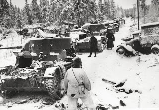Tanks in the snow, 1940