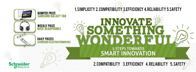 Participate in Schneider Electric Smart Innovation Contest : Win Samsung Galaxy Tab, Bose Headphones and Pendrives!! Schneider