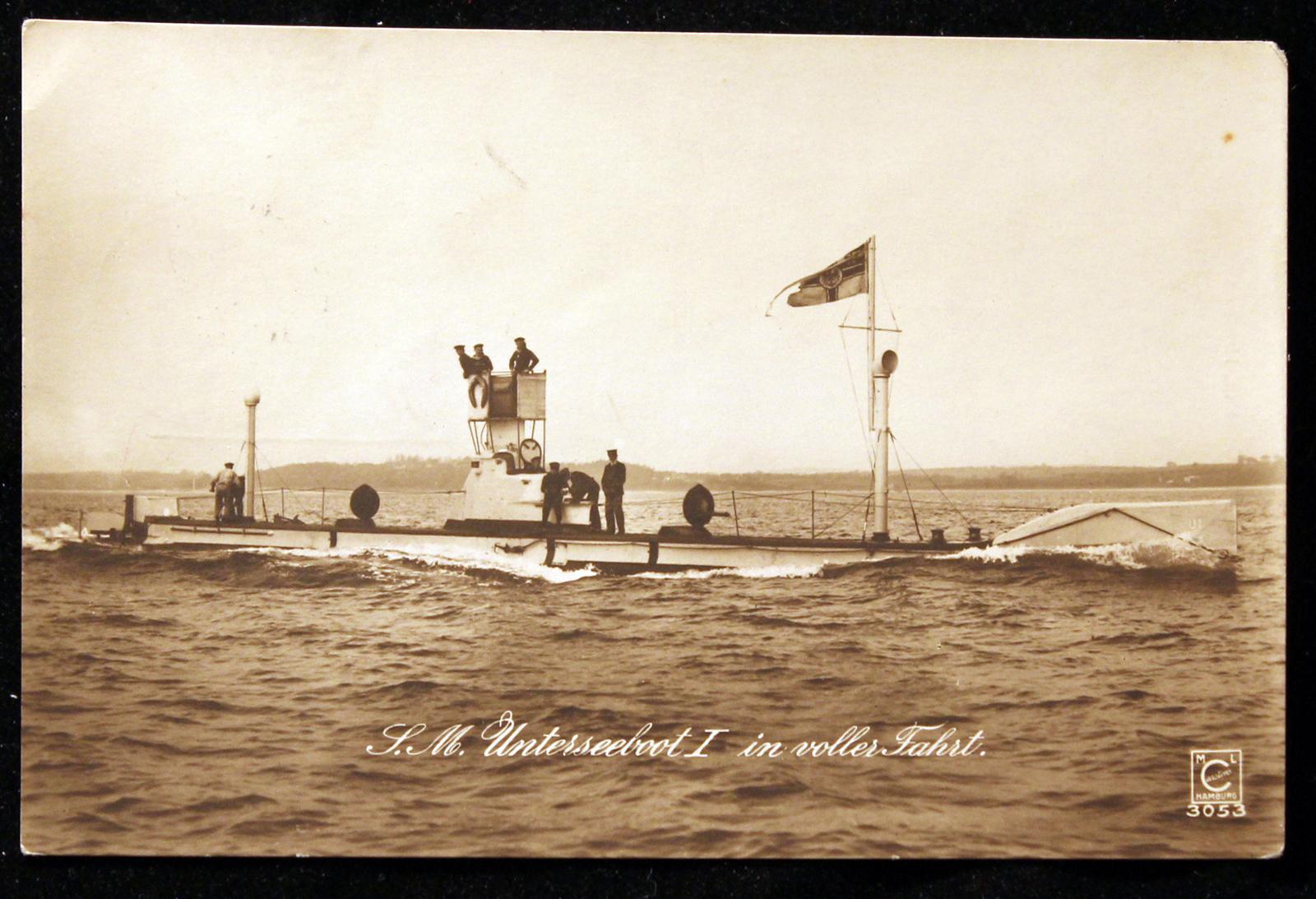 Germany's first military submarine, the S.M. U-1 U1l