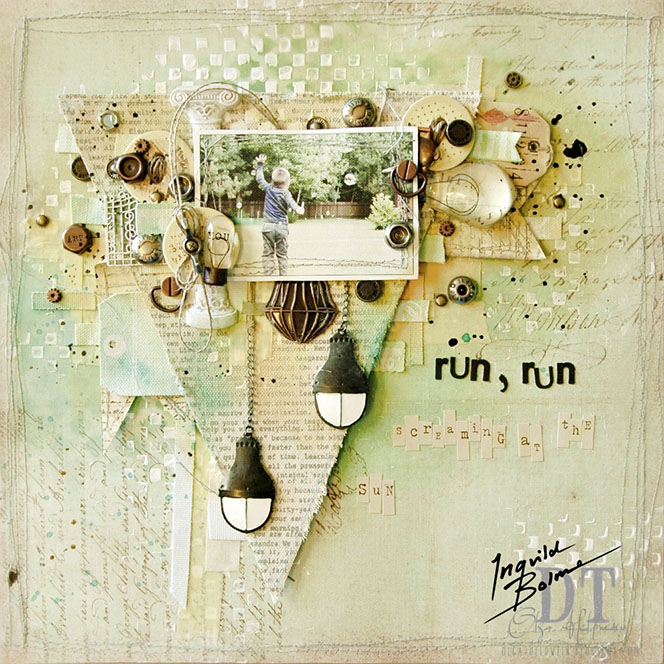 "4 september 2013 ""Run, Run"" layout by Olga Heldwein..... Dd"